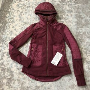 Lululemon Fleecy Keen Jacket III Wine Berry 4 NWT